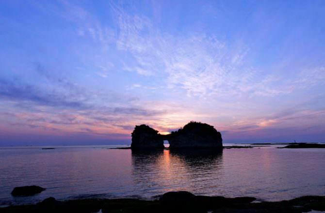 【和歌山旅遊】白濱溫泉 圓月島看夕陽 千疊敷 三段壁洞窟