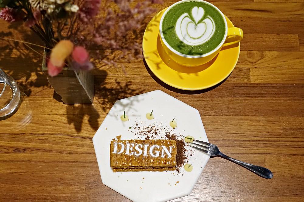 【台北】 Design Coffee 小山園抹茶拿鐵 檸檬千層 南港咖啡廳推薦
