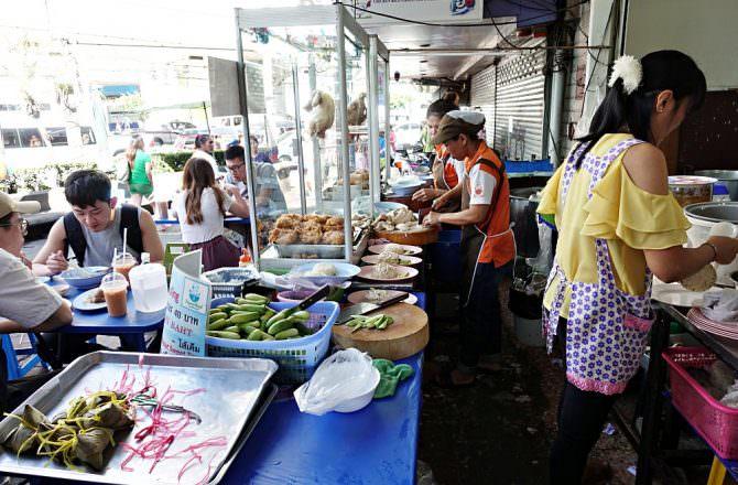 【曼谷美食】水門市場 成益莊海南雞飯 泰式酸辣麵 咦怎麼還有台式肉粽(Central world)