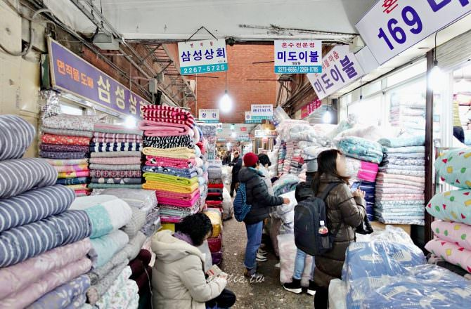 【首爾購物】廣藏市場買被子 輕柔雪花冬被 169號美度棉被