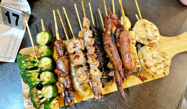 【台北】東區 品都串燒攤 新鮮便宜 一不小心就會拿太多的人氣排隊串燒店